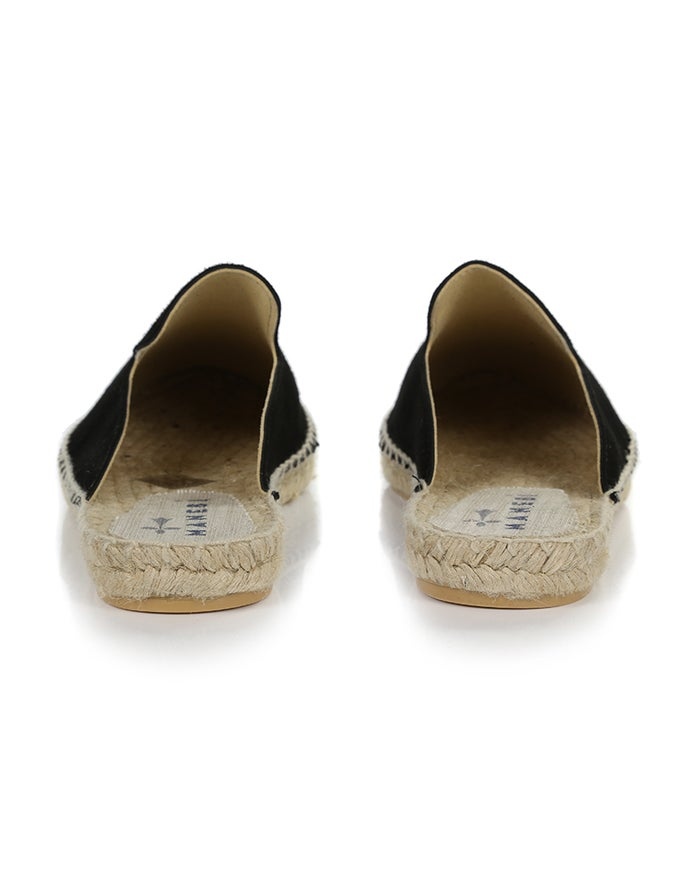 ee84b294c Manebi Hamptons Suede Mule Espadrilles - Black | Country Attire