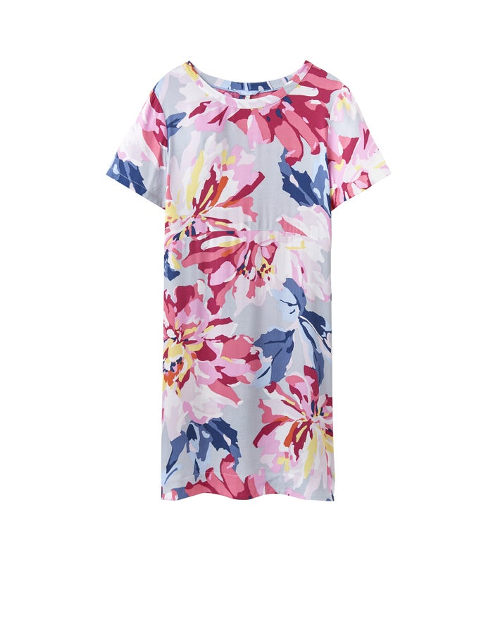 068c267beda Joules Krista Woven Women's Dress - Silver Whitstable Floral ...