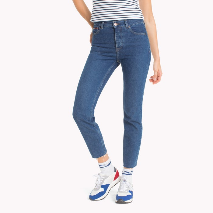 c0817ce33d68cd Tommy Jeans Izzy High Rise Slim Fit Cropped Women's Jeans - Dark ...