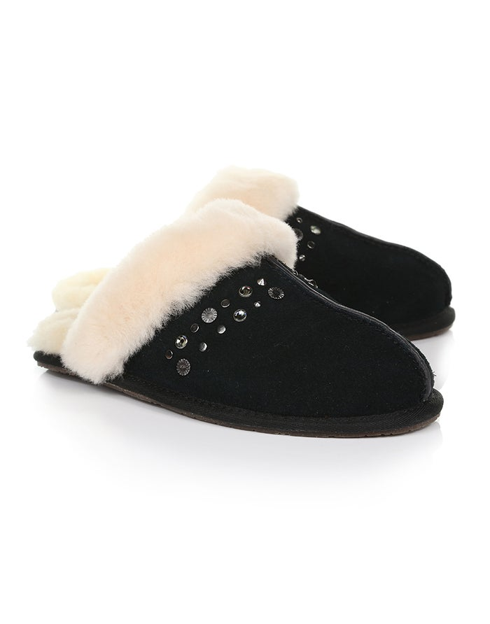 44ce574217b UGG Scuffette II Studded Bling Women's Slippers - Black | Country Attire