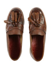 Grenson Clara Wedge Tassel Loafers Dress Shoes