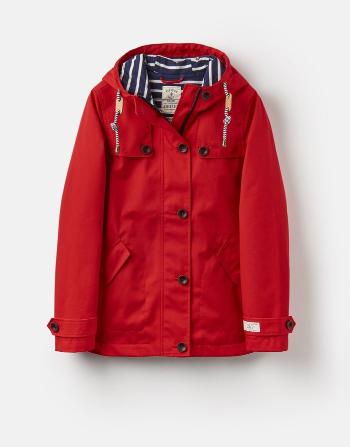 739d3ae0d Joules Coast Waterproof Hooded Women's Jacket - Red | Country Attire