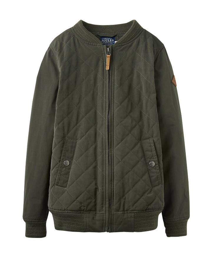 af4cc7e16 Joules Odrhalton Quilted Bomber Boy's Jacket - Khaki | Country Attire
