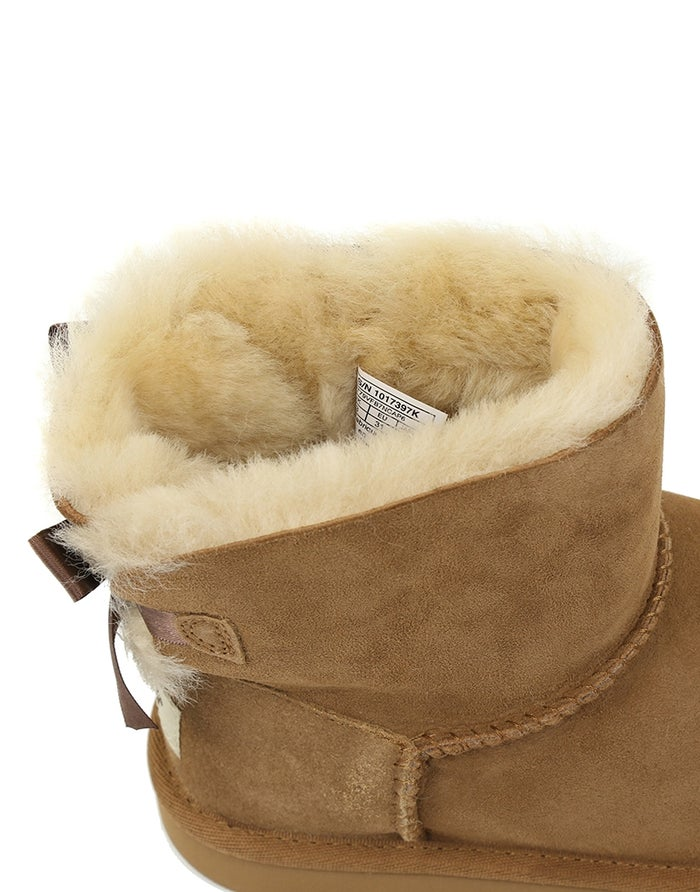 f35d03281bb UGG Kids Mini Bailey Bow II Girl's Boots - Chestnut | Country Attire