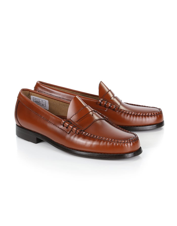 1f0af7160fa GH Bass Weejuns Larson Penny Loafers Dress Shoes - Mid Brown Leather ...