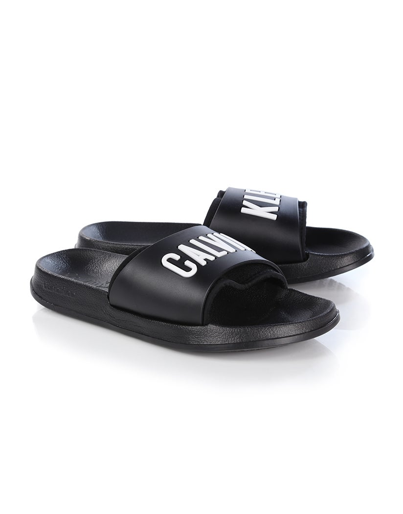 Slide Calvin Attire Sandals Klein Women's BlackCountry 3AjcRL4q5