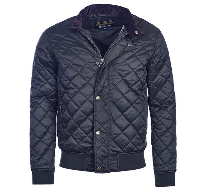 b834e9a4e Barbour Moss Quilted Bomber Men's Jacket - Navy | Country Attire