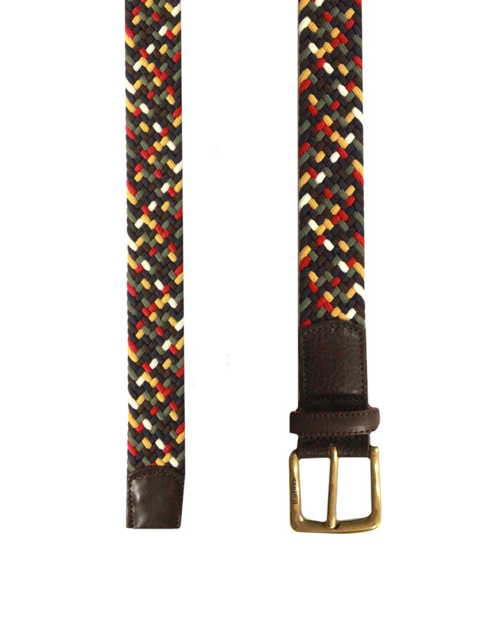Barbour Tartan Coloured Stretch Men's Web Belt