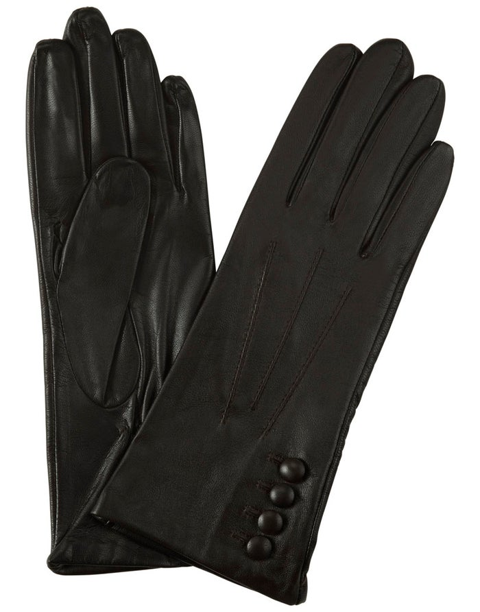 Dents Silk Lined Leather Touchscreen Technology Dame Modehandsker