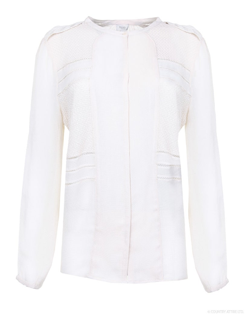 Hoss Intropia Blouse with Stitching Detail Women's Shirt