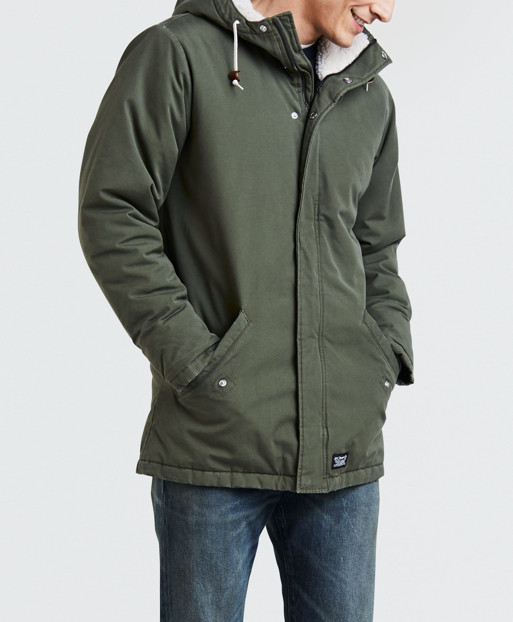 9a15d7dca Levis Thermore Padded Parka Jacket - Olive Night | Country Attire