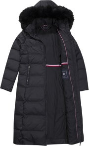 213f67c7 Tommy Hilfiger Tyra Fitted Maxi Women's Down Jacket - Black Beauty ...