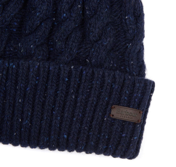 252bad86 Barbour Seaton Pom Men's Beanie - Navy | Country Attire