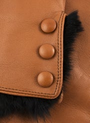 Luvas Senhora Dents Sophie Wool Lined Leatherwith Fur