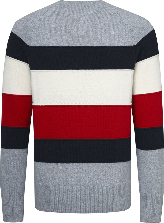 Tommy Hilfiger Colour Blocked Crew Neck Sweater