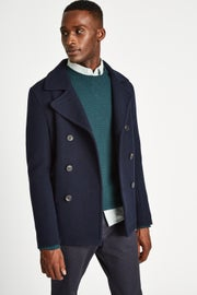 Jack Wills Bickmor Wool Peacoat Jacket