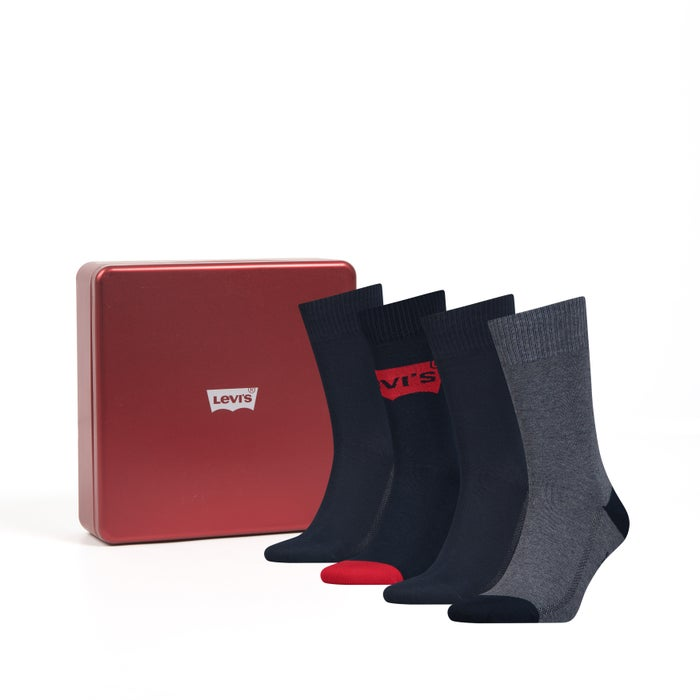 Meias Levis Giftbox 4p Regular Cut