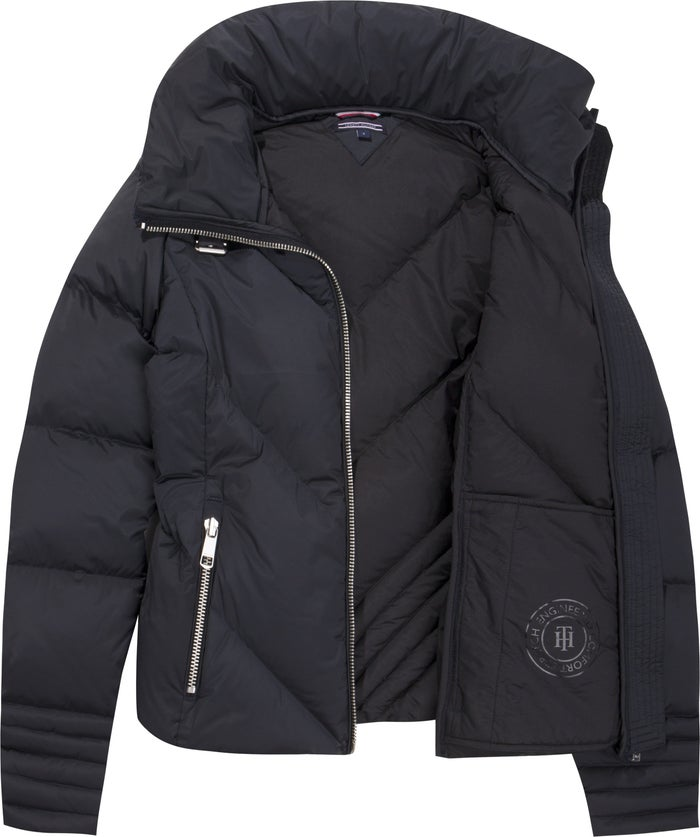 760a80e1 Tommy Hilfiger April Fitted Women's Down Jacket - Black Beauty ...