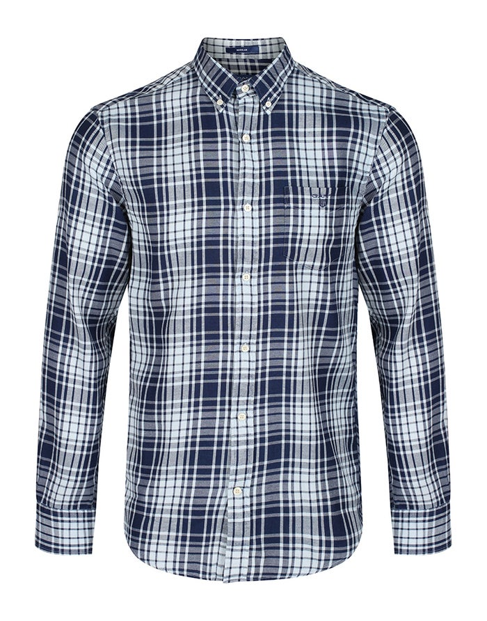 6482f9321042 Gant Windblown Flannel Indigo Reg Bd Shirt