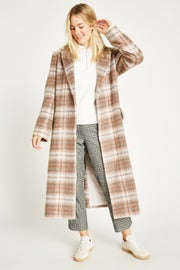 Jack Wills Blythe Long Checked Robe Coat Women's Jacket