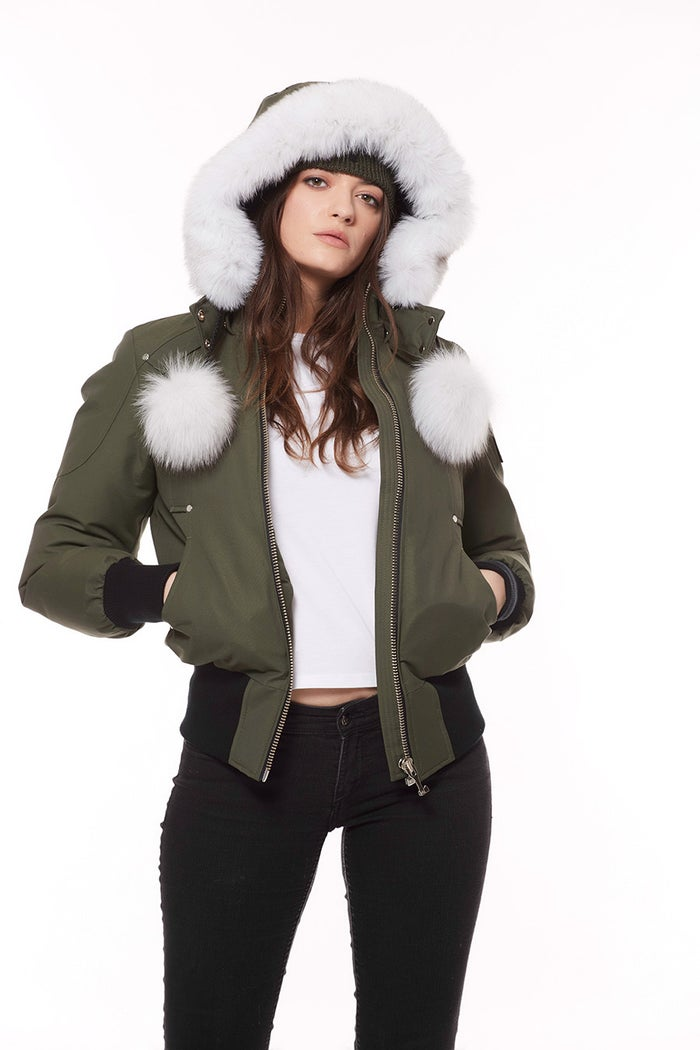 1ff51cdf4 Moose Knuckles Debbie Bomber Women's Down Jacket - Army | Country Attire