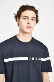 Jack Wills Budden Stripe Logo Short Sleeve T-Shirt