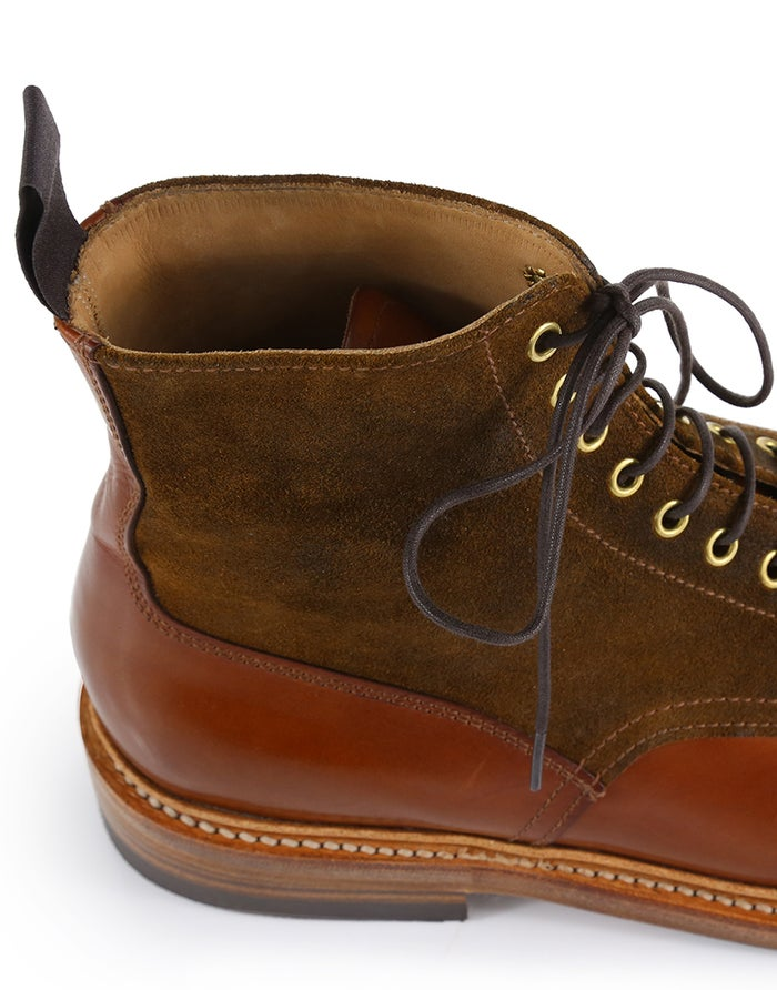 Grenson Clifford Tan Handpainted/ Suede Boots