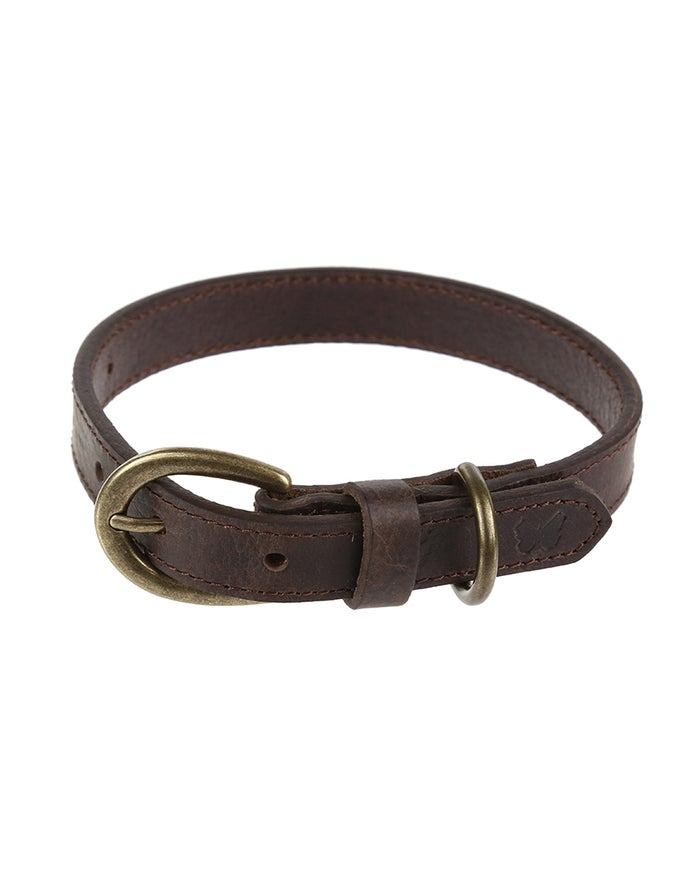 Country Attire Brady 2cm Small Leather Halsbånd til Hund