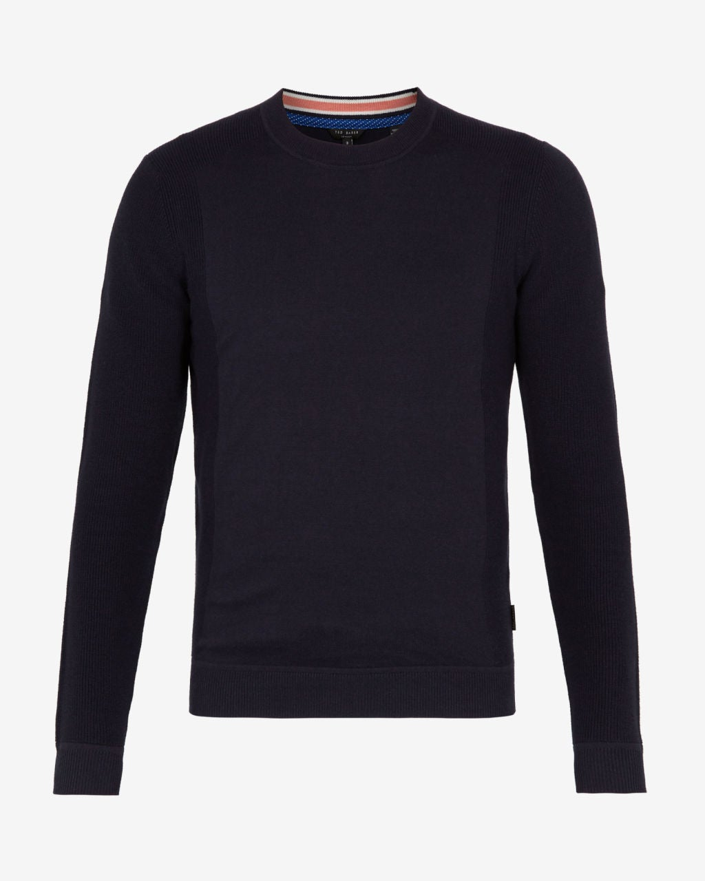Ted Baker Textured Sleeve Crew Neck Long Sleeve T-Shirt
