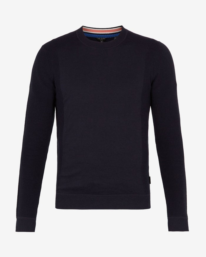 T-Shirt a Manica Lunga Ted Baker Textured Sleeve Crew Neck
