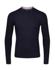 Ted Baker Textured Sleeve Crew Neck , Långärmad T-shirt
