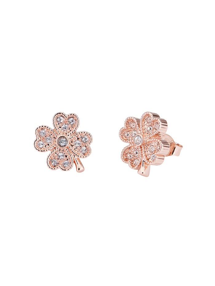 Ted Baker Hiila Hidden Heart Clover Stud Earrings