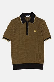 Fred Perry Re Issues Two Colour Texture Knit Polo Shirt
