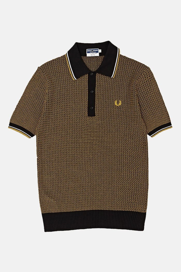 Polo Fred Perry Re Issues Two Colour Texture Knit