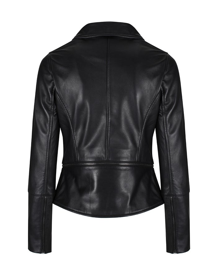 Ted Baker Yaswin Zip Hem Leather Biker Women's Jacket