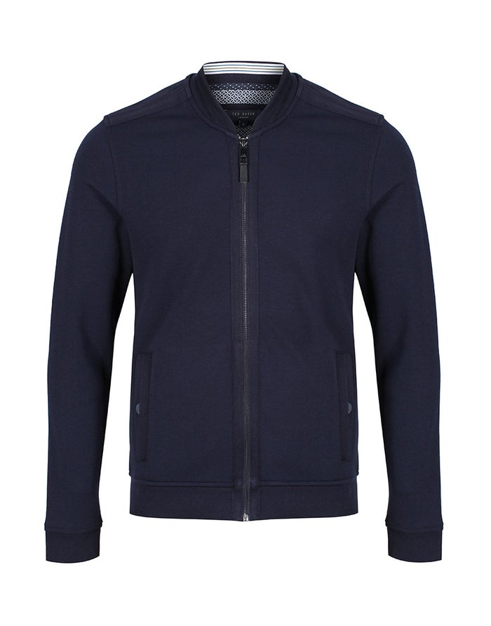 Ted Baker Bomber With Woven Panels Jacket