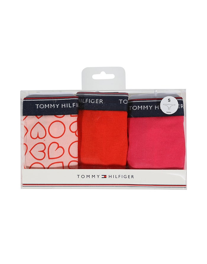Tommy Hilfiger 3 Pack Love Print Dame Thong