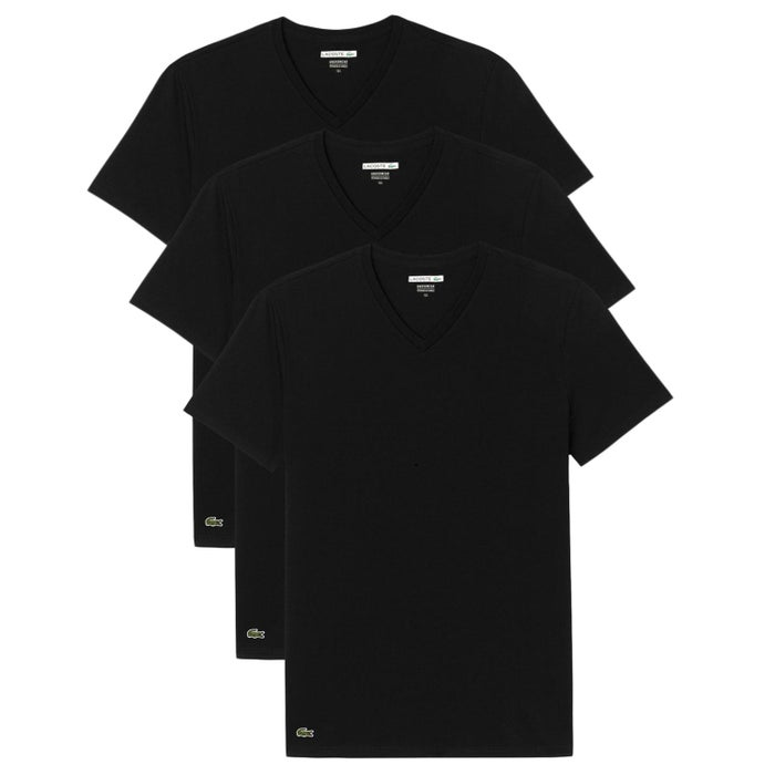 4d5868ba Lacoste Slim Fit 3 Pack Short Sleeve T-Shirt
