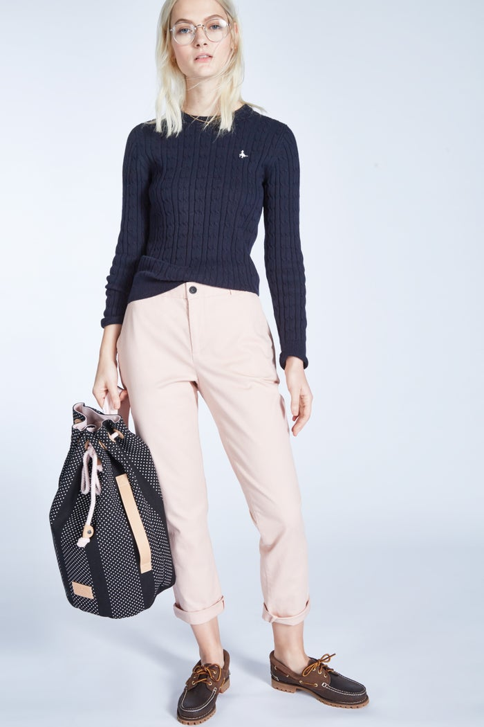 Jack Wills Tinsbury Classic Cable Crew Dame Knits