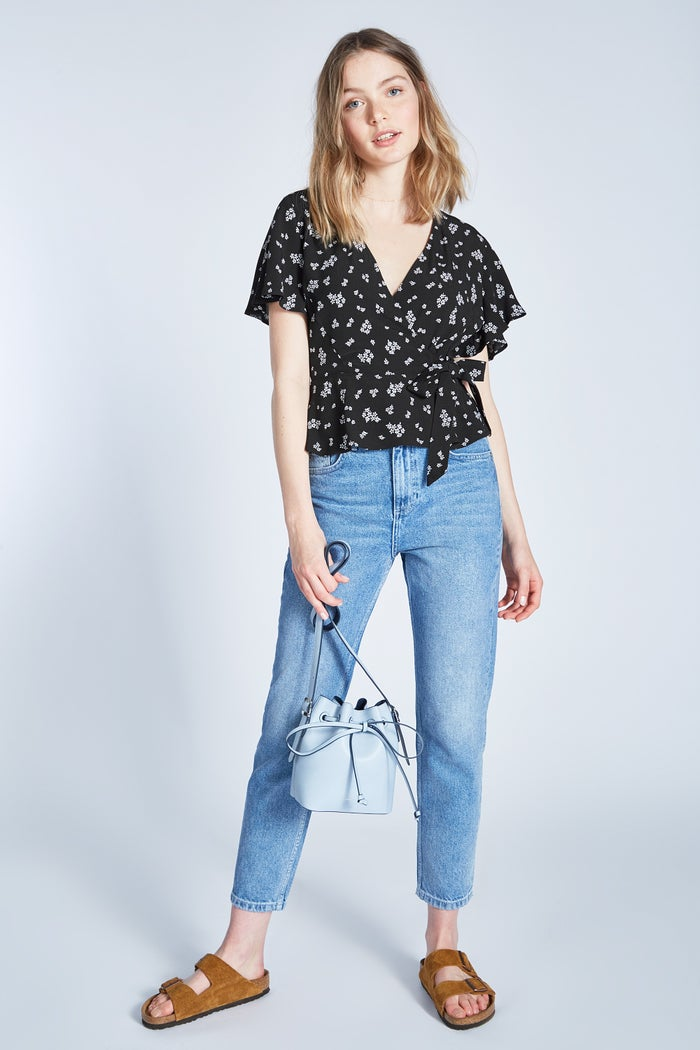 Jack Wills Susie Floral Wrap Dame Top