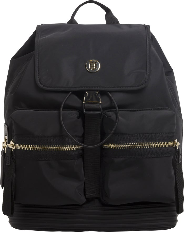 b9091a487 Tommy Hilfiger Small Textile Women's Backpack - Black | Country Attire