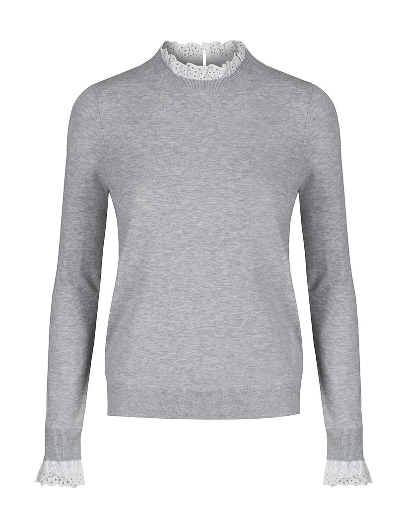 Ted Baker Kaytiie Broderie Mockable Dame Sweater