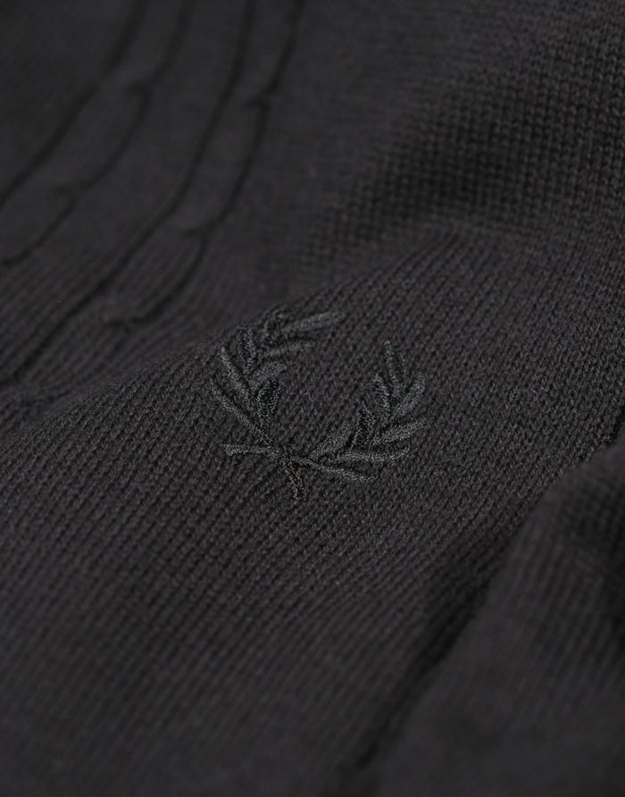 Fred Perry Re Issues Cable Knitted Kortærmet skjorte