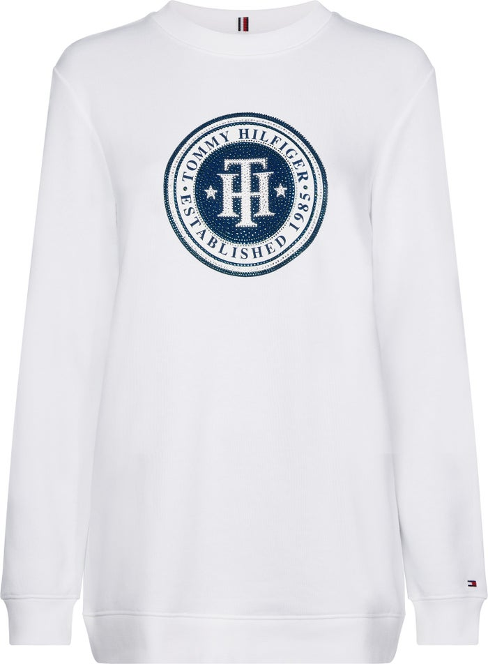 8876bed5d Tommy Hilfiger Vera Logo Terry Women's Sweater - Classic White | Country  Attire