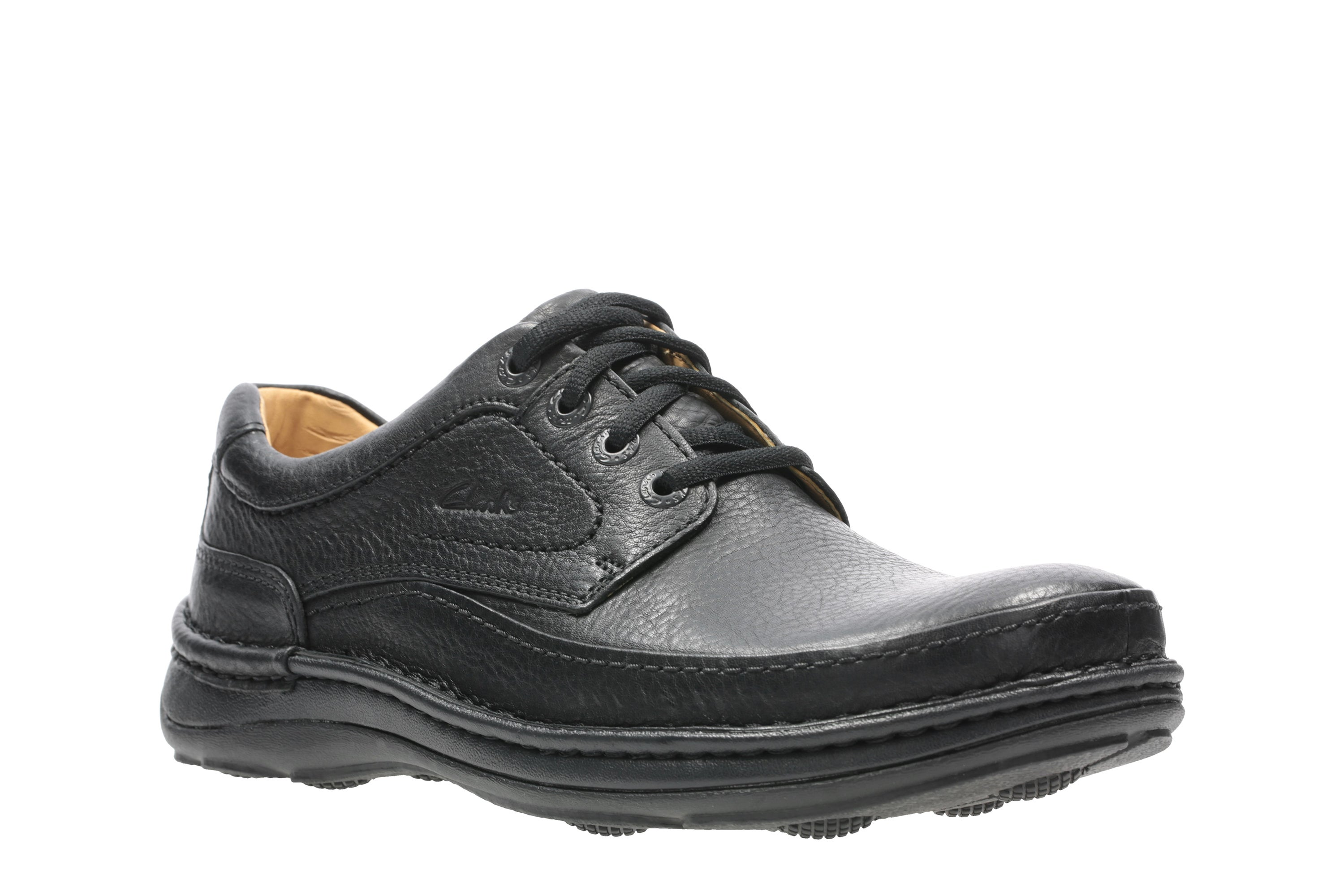 Mens Nature Three Black Leather Shoes 20339008