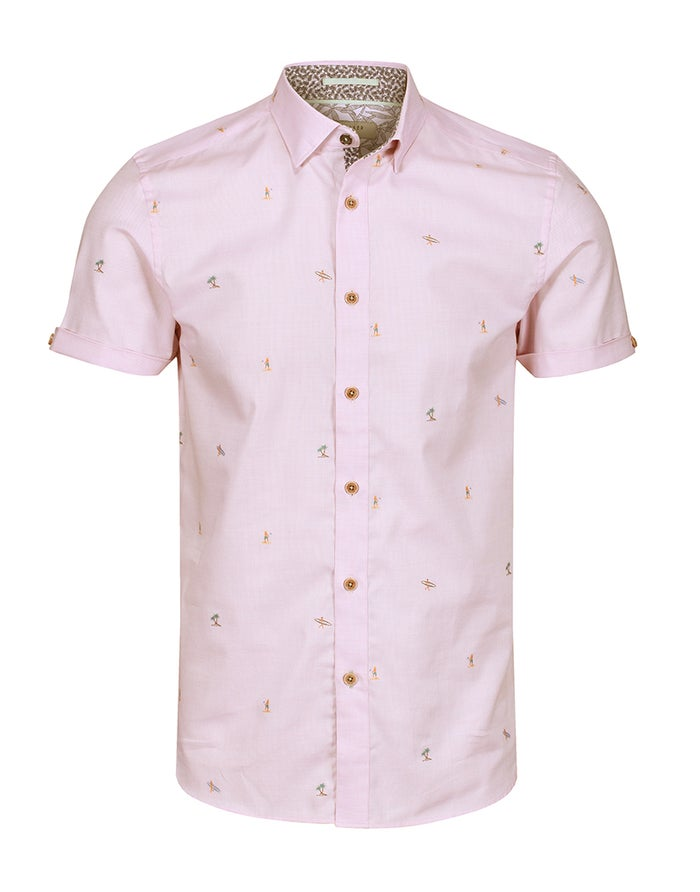 Ted Baker Fil Coupe Men's Short Sleeve Shirt
