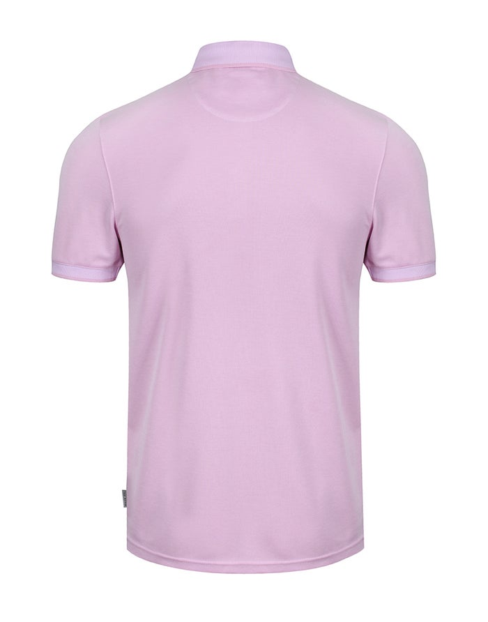 Ted Baker Flat Knit Polynosic Polo Shirt