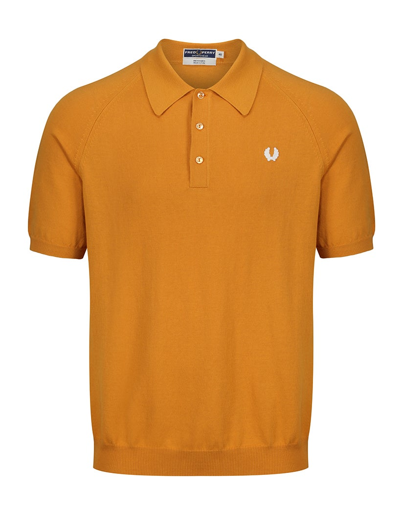 Fred Perry Re Issues Raglan Sleeve Knit Polo Shirt