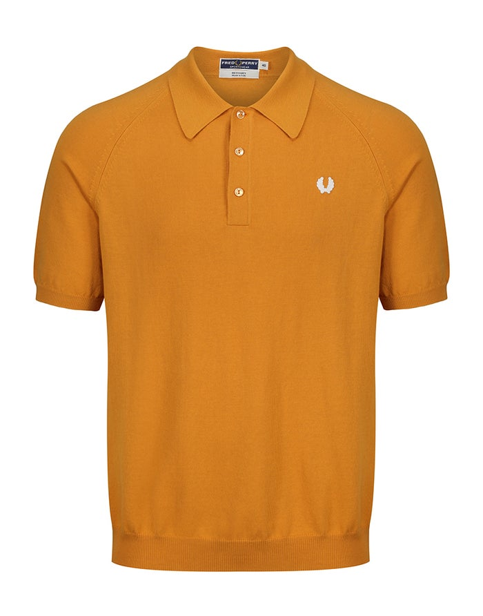 Fred Perry Re Issues Raglan Sleeve Knit Poloskjorte