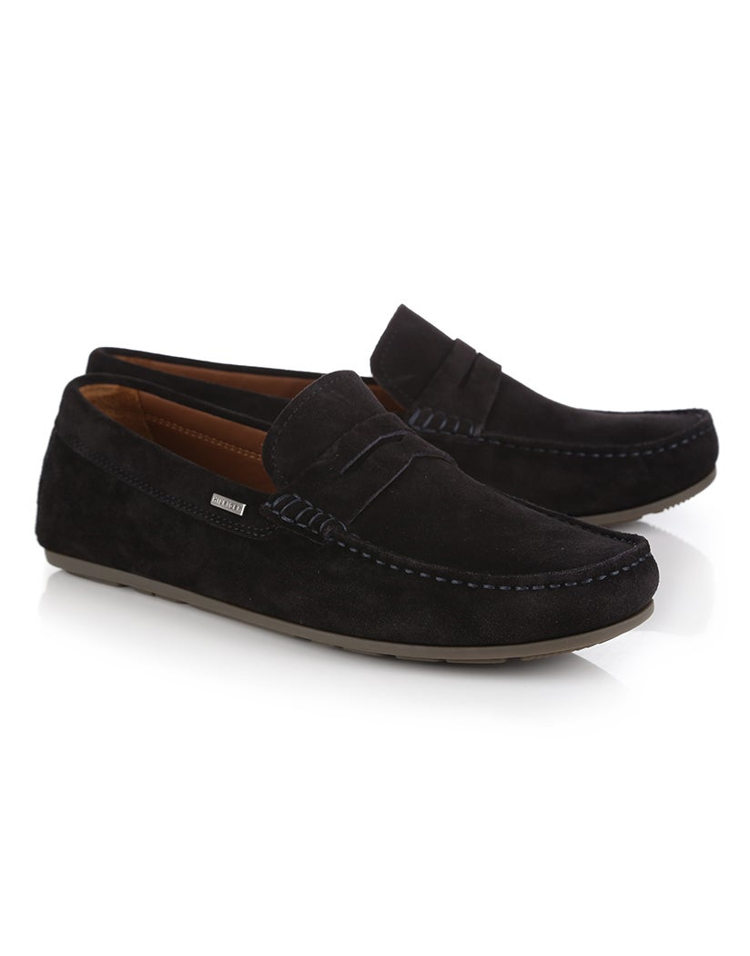 f65279f734 Tommy Hilfiger Classic Suede Penny Loafer Slip On Shoes   Country Attire